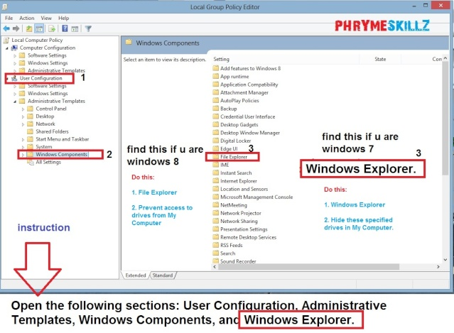 How to Disable/ Restrict Access to Hard Drive Partitions in Windows 7 & 8 Win8_t10