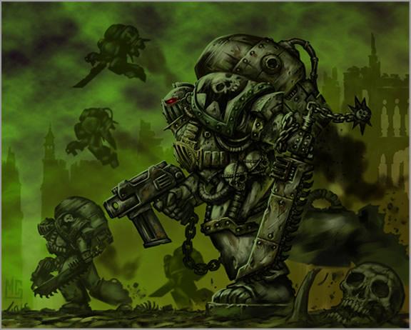 Death Guard après un chti tour dans le warp Deathg13