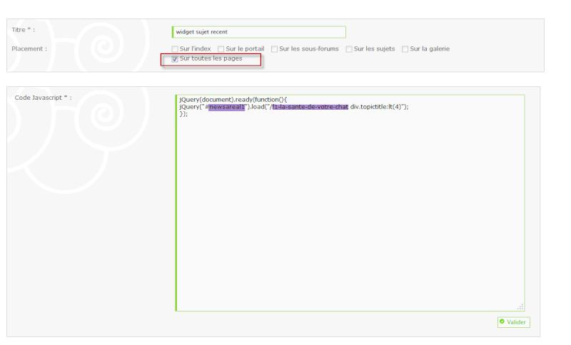 Widget derniers sujets d'un sous-forum isolé Widget13