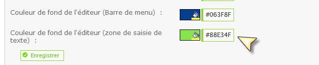 Changer la couleur de fond de l'éditeur via le PA Zone-s11