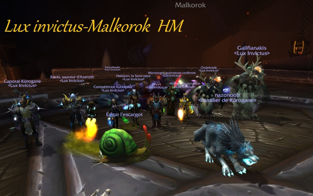 Lux Invictus, guilde PvE, alliance Archimonde Europe - Portail Wowscr14