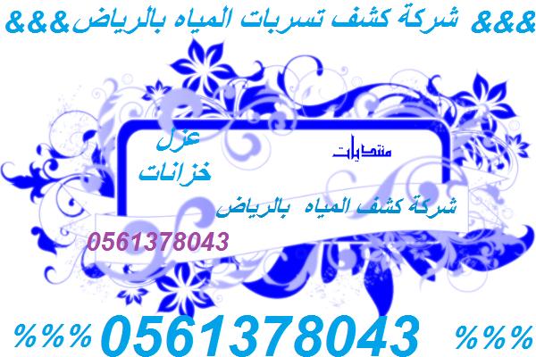 شركة كشف تسربات المياه بالرياض  //0561378043//شركة الهدى