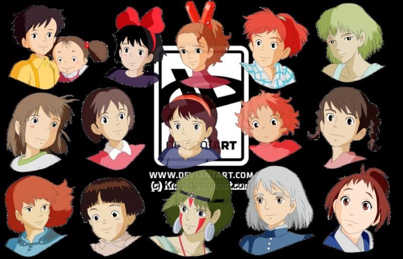 Images des dessins animés du Studio Ghibli Girls_10