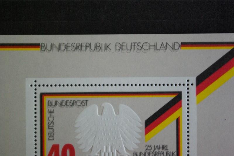 Bewertung der Blockausgabe 10 BRD 1974, 15.Mai 25 Jahre BRD 25jahr13