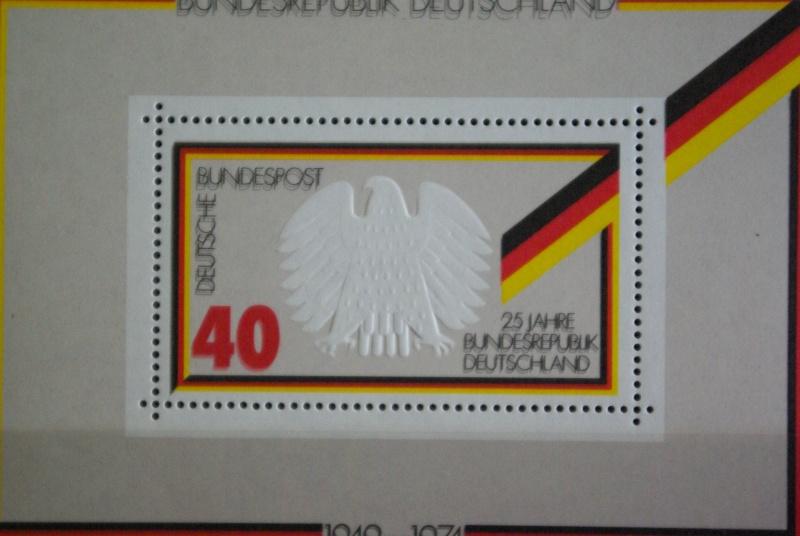Bewertung der Blockausgabe 10 BRD 1974, 15.Mai 25 Jahre BRD 25jahr14