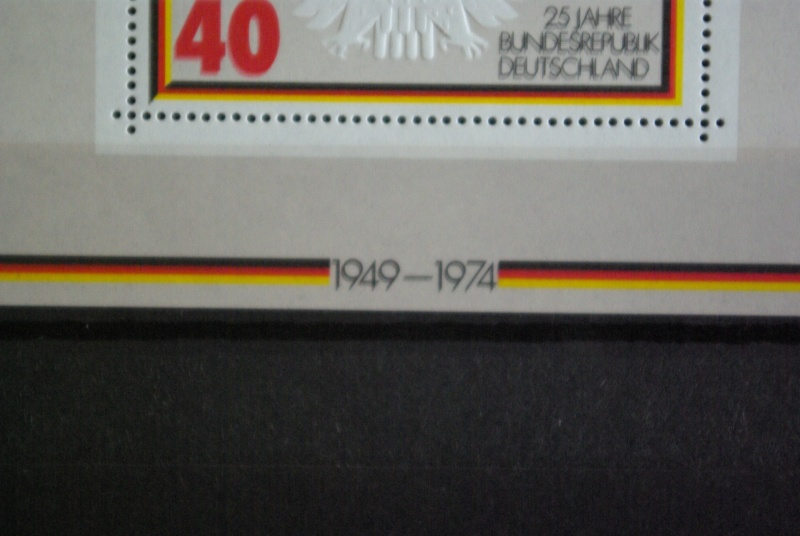 Bewertung der Blockausgabe 10 BRD 1974, 15.Mai 25 Jahre BRD 25jahr15