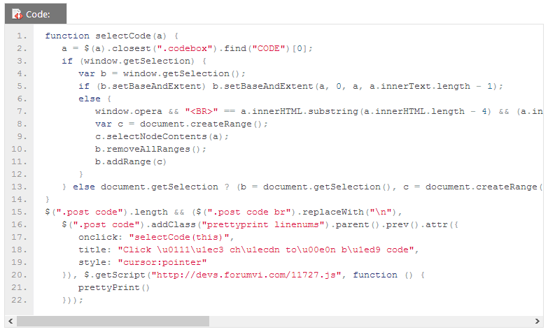 [TUTs] Làm đẹp code với Google code prettify 11-25-15