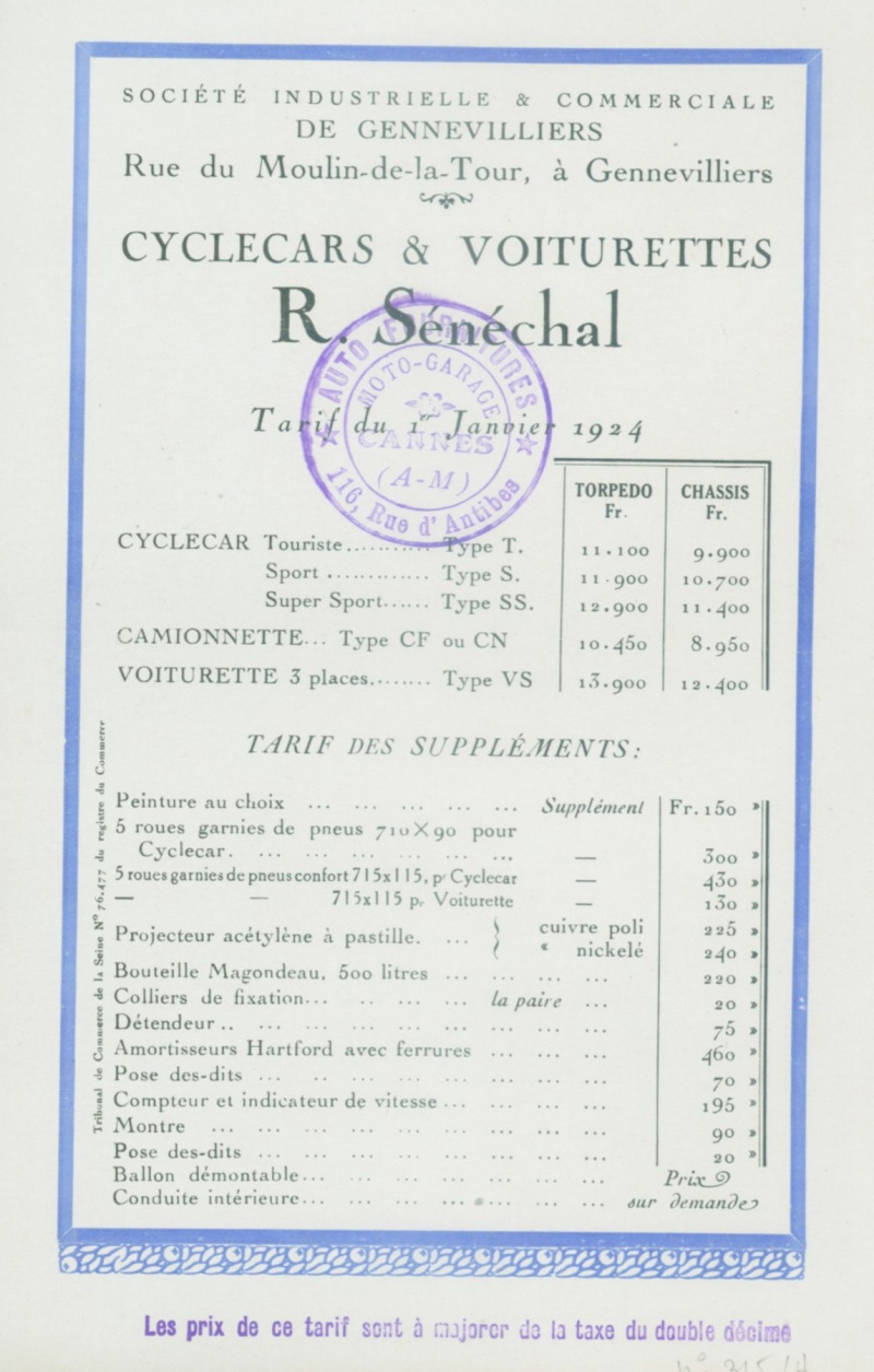 Senechal cyclecar - Page 4 0810