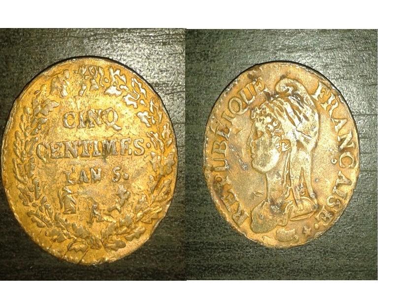 5 centimes Dupré frappe... médaille... Sans_t10