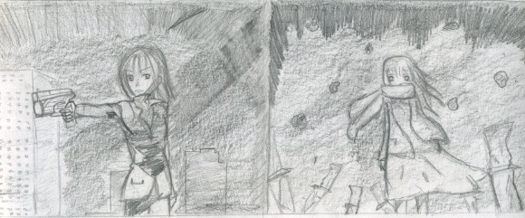 Quelques dessin que j'ai fais ( je n'ai pas copié et normalement j'en ai plus mais je les ai perdu ) Numeaa13