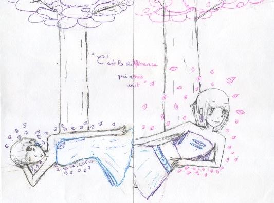Quelques dessin que j'ai fais ( je n'ai pas copié et normalement j'en ai plus mais je les ai perdu ) Numeaa14