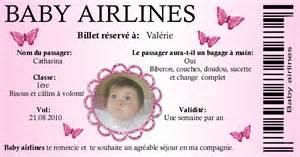 Billet avion Parrain Marraine Th10