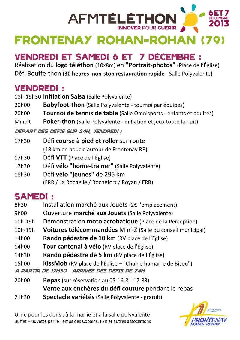 06 et 07 décembre 2013 Téléthon Frontenay (79) défi home-trainer Affich10