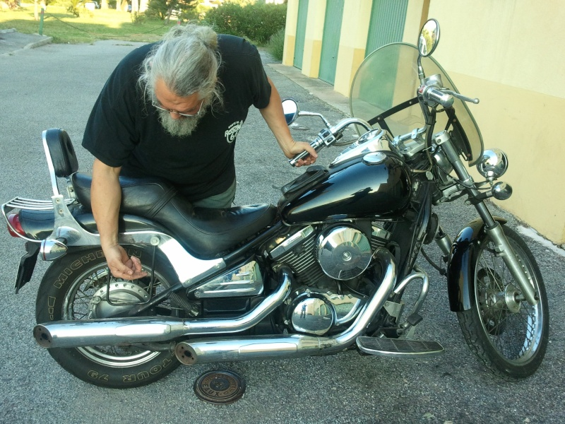 800 VN - et oui je suis blond au fond ma moto quand je l'ai eue ilya1an 01110