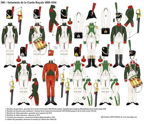 Velite-Grenadier, Italien Garde Royale, 1809 Fanter10