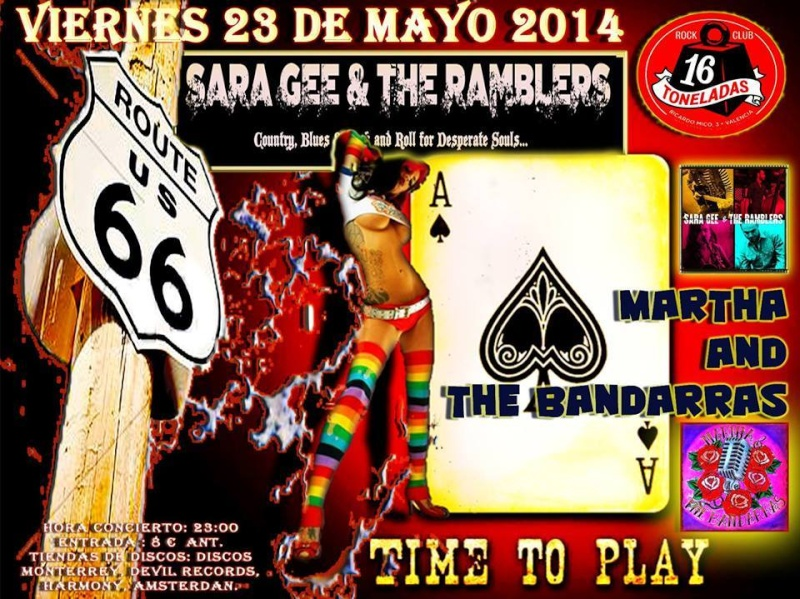 FIESTA  ROCK & ROLL-23 MAYO- SALA 16 TONELADAS-SARA GEE RAMBLIN MATT-MARTHA AND THE BANDARRAS 10003910