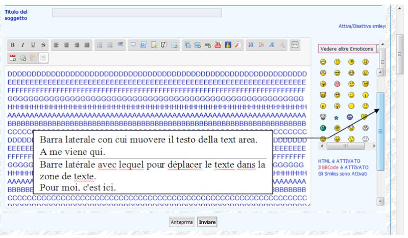 Étirer / agrandir la discussion via la zone de texte Textar13