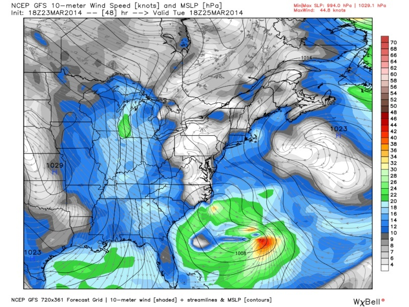 March 25th-26th Possible Coastal Storm Potential 2.0 - Page 19 18z_gf10
