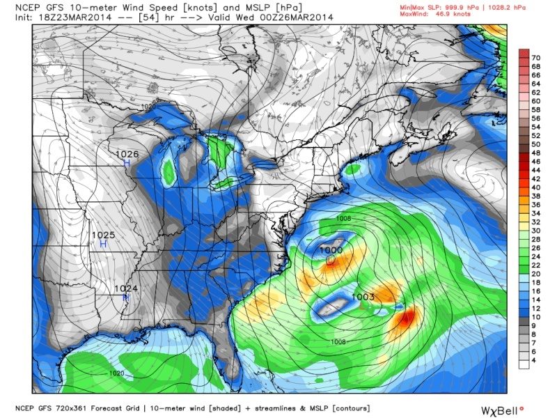 March 25th-26th Possible Coastal Storm Potential 2.0 - Page 19 Gfs_210