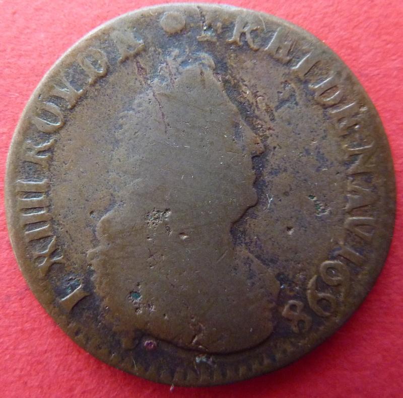 louis XIV liard de France 1698 Lille P1060814