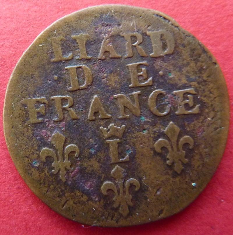 louis XIV liard de France 1698 Lille P1060815