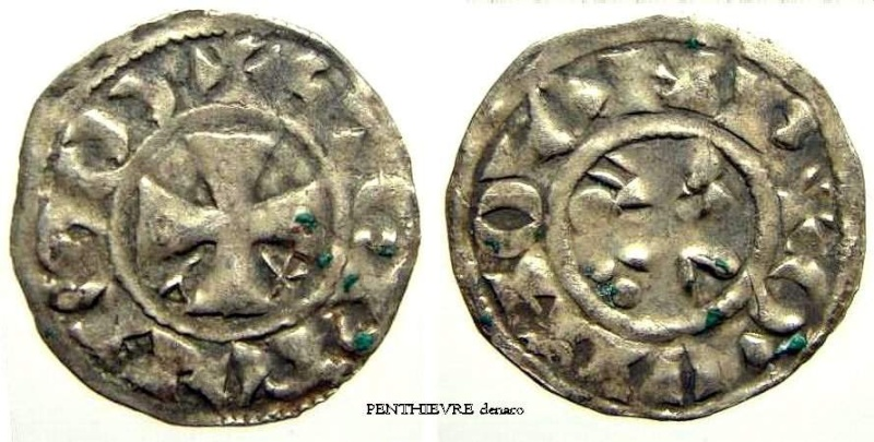 Denier pour Etienne 1er du Comté de Penthièvre. Penthi10