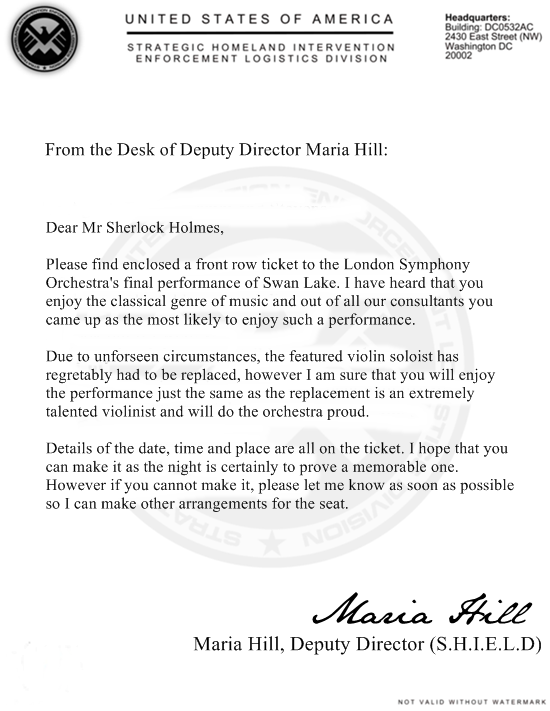 Letter To Mr Sherlock Holmes Shield10