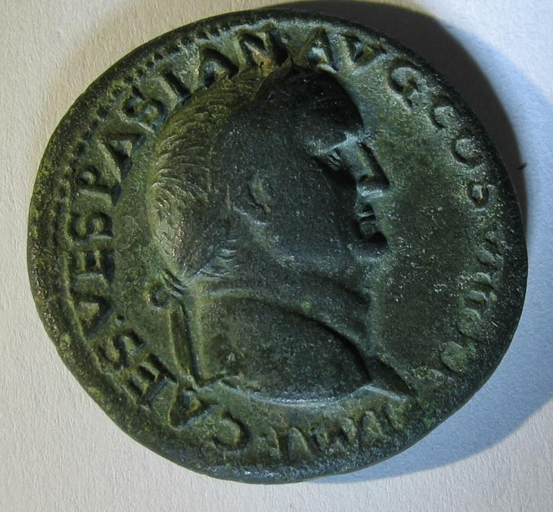 Dupondius de Vespasien pour Lyon 126