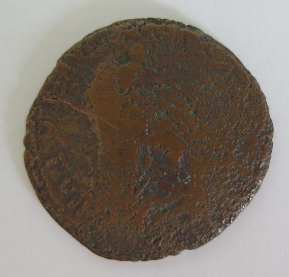 as ou dupondius d Auguste ou Tibère contremarques CAES et DD 186
