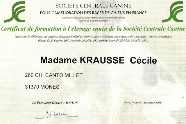 "Merci de votre confiance ... mon ""CV Canin"" Capaci10"