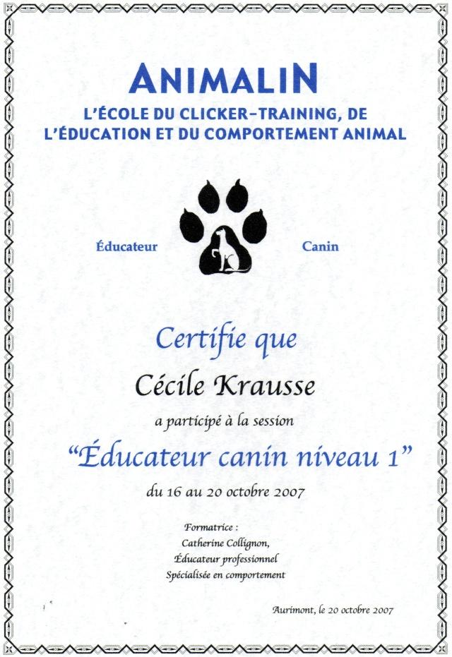 """Merci de votre confiance ... mon """"CV Canin"""" Educat10"""