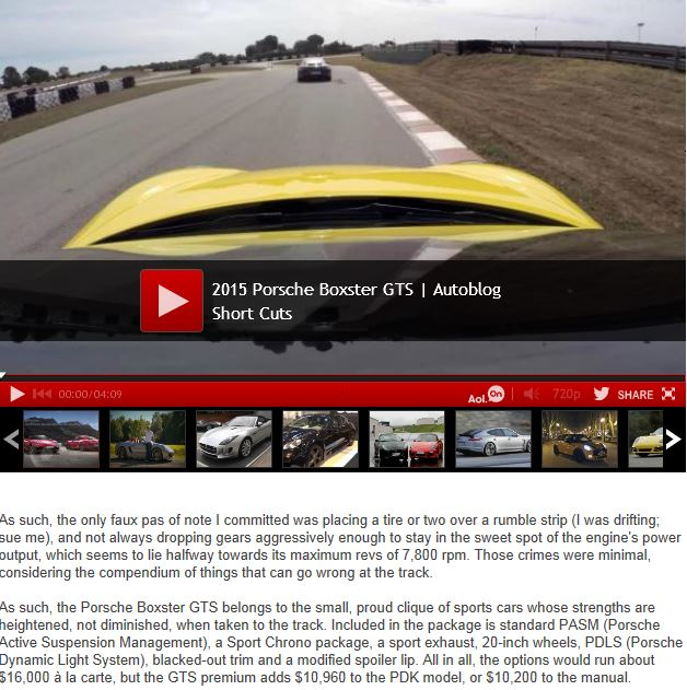 SCOOP: bientôt des Boxster & Cayman GTS ! - Page 7 Forum136