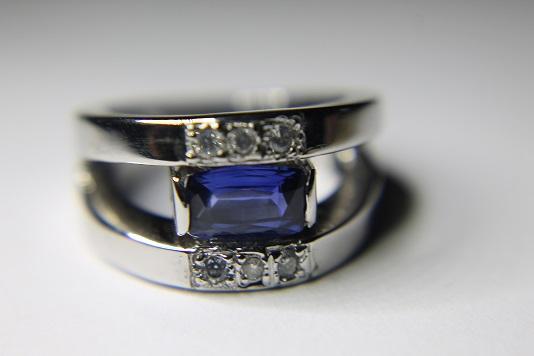 Bague saphir et diamants Img_3213
