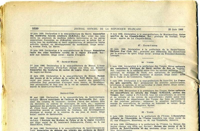 Historique de notre association Jo6610