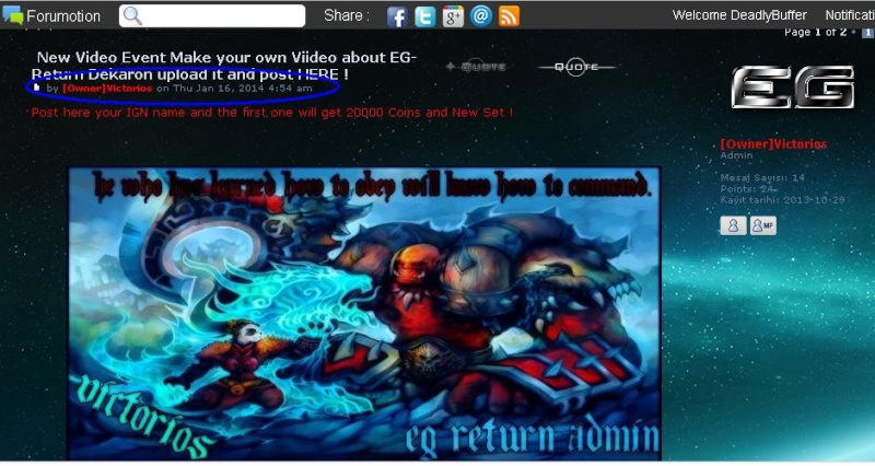 New Video Event Make your own Viideo about EG-Return Dekaron upload it and post HERE ! 210