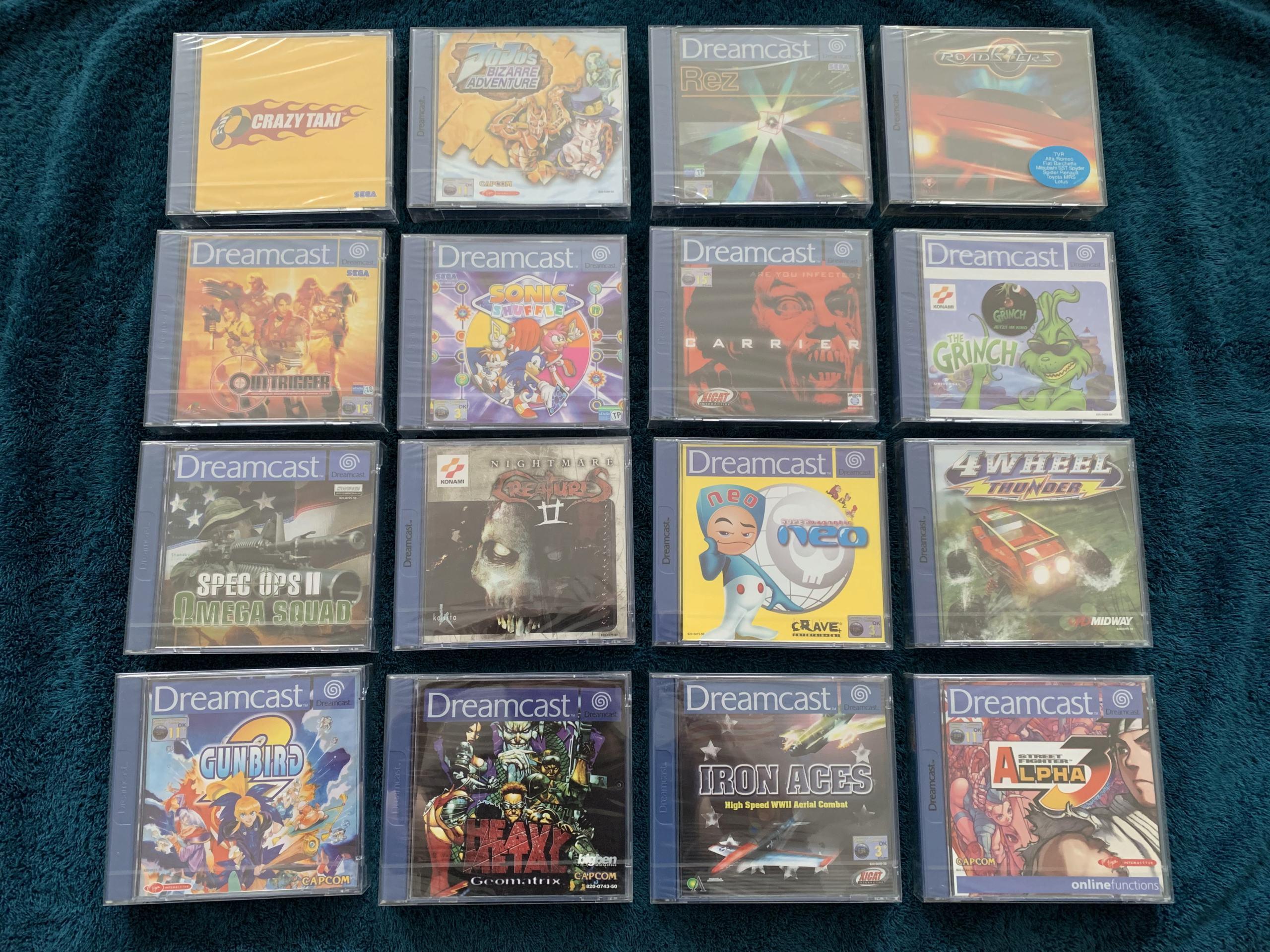 [VENDU] Fullset Jeux Dreamcast, Accessoires, Promo, Rigides... - 350 pièces - NEUF SOUS BLISTER 001_fu10