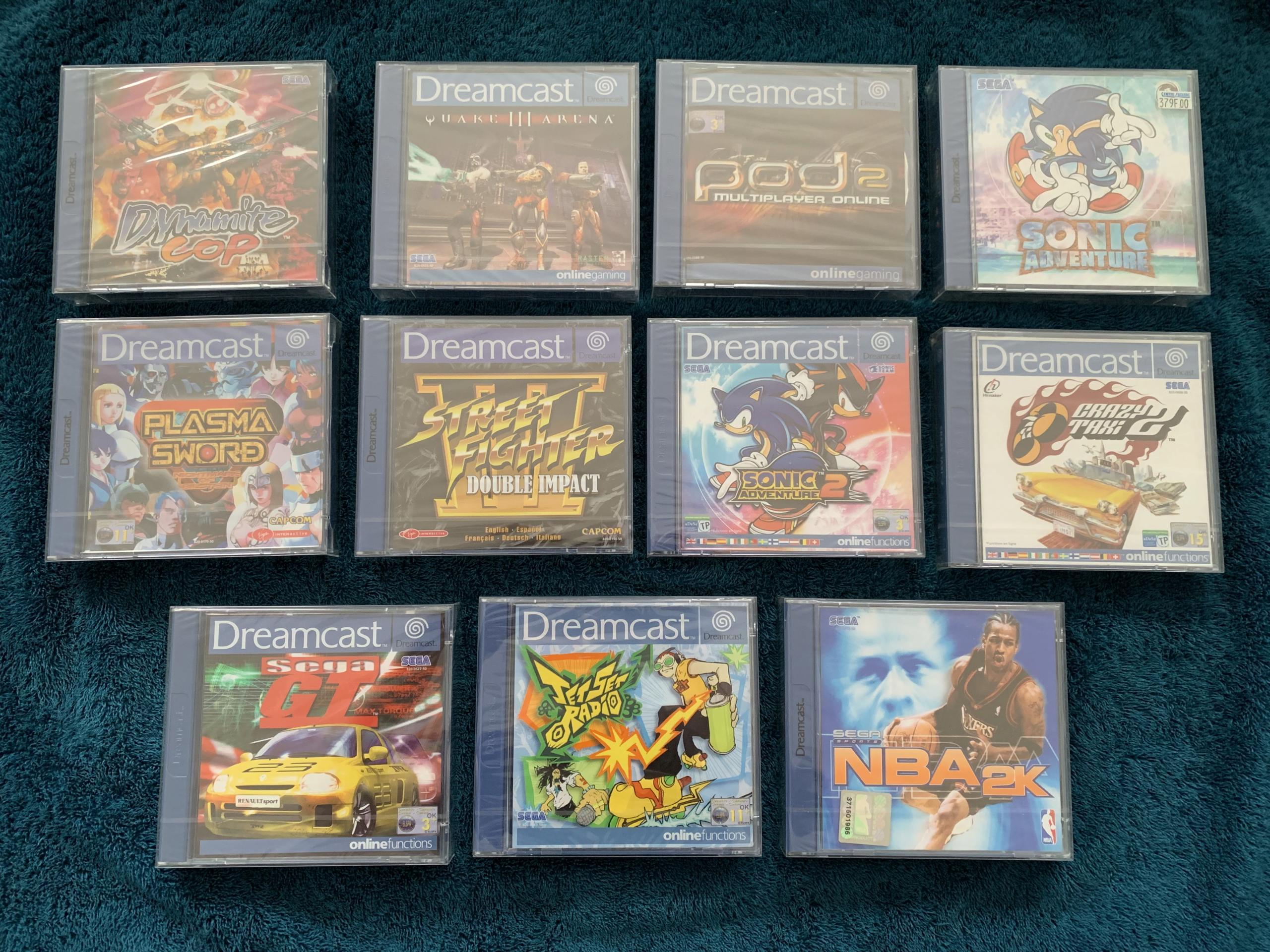 [VENDU] Fullset Jeux Dreamcast, Accessoires, Promo, Rigides... - 350 pièces - NEUF SOUS BLISTER 008_fu10