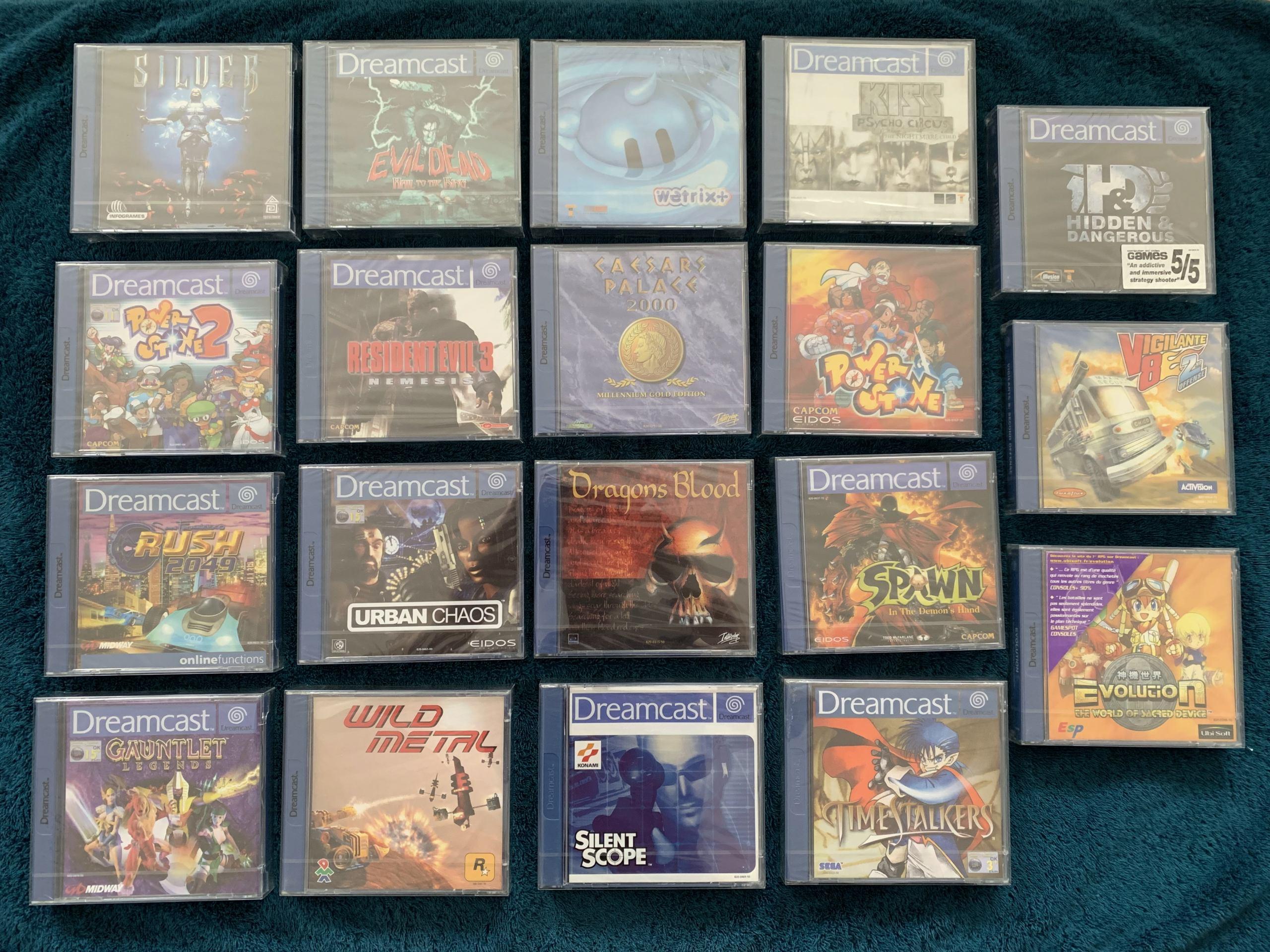[VENDU] Fullset Jeux Dreamcast, Accessoires, Promo, Rigides... - 350 pièces - NEUF SOUS BLISTER 009_fu10