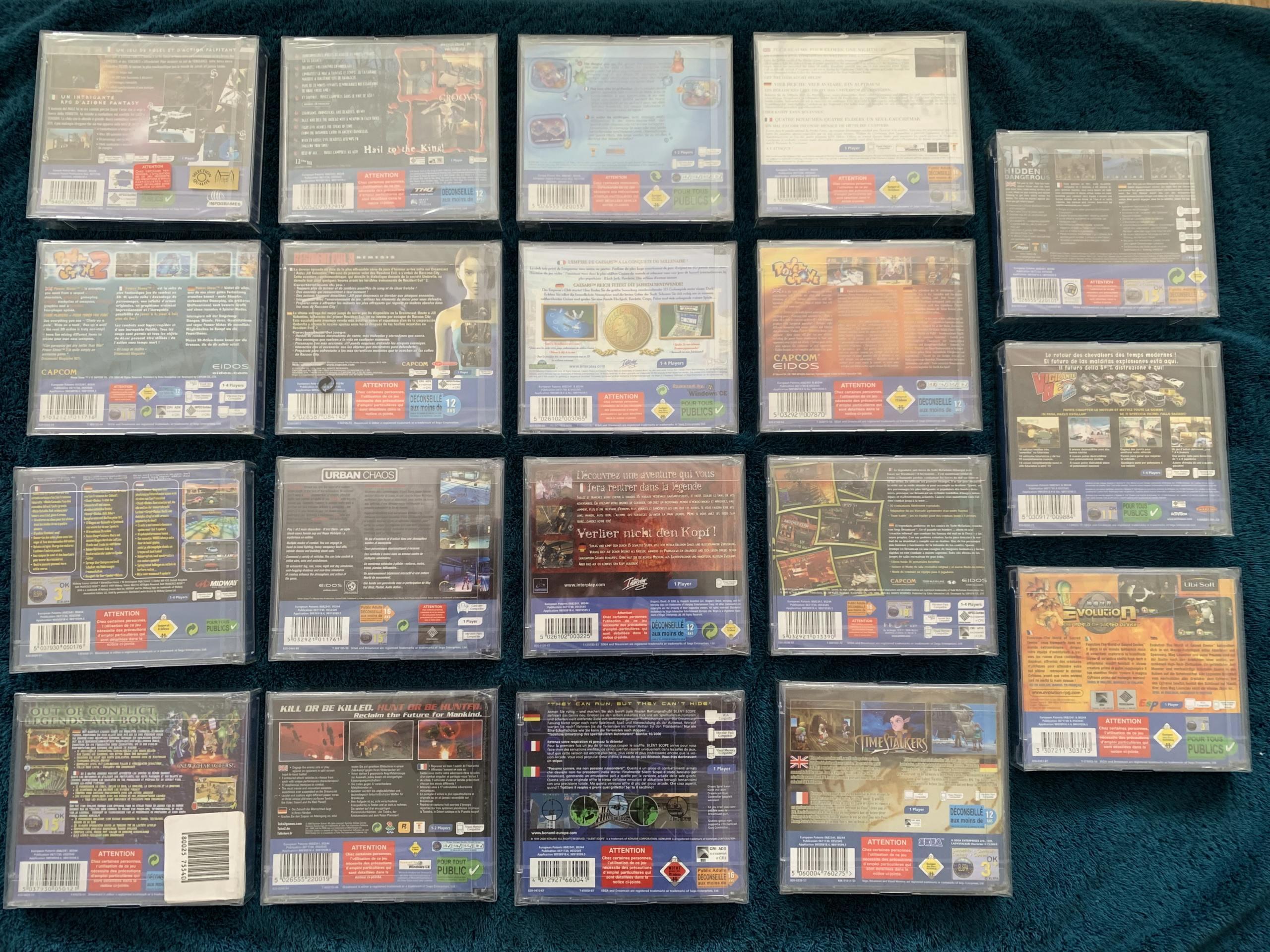 [VENDU] Fullset Jeux Dreamcast, Accessoires, Promo, Rigides... - 350 pièces - NEUF SOUS BLISTER 010_fu10