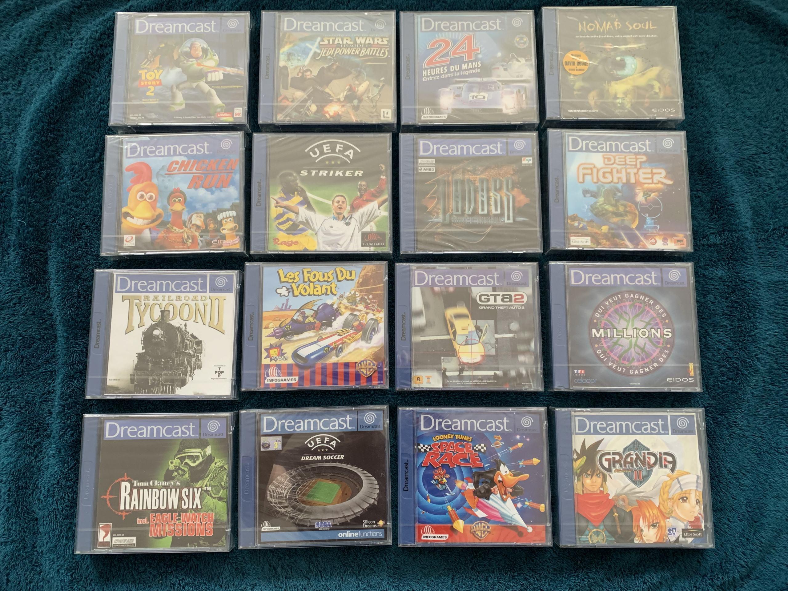 [VENDU] Fullset Jeux Dreamcast, Accessoires, Promo, Rigides... - 350 pièces - NEUF SOUS BLISTER 015_fu10