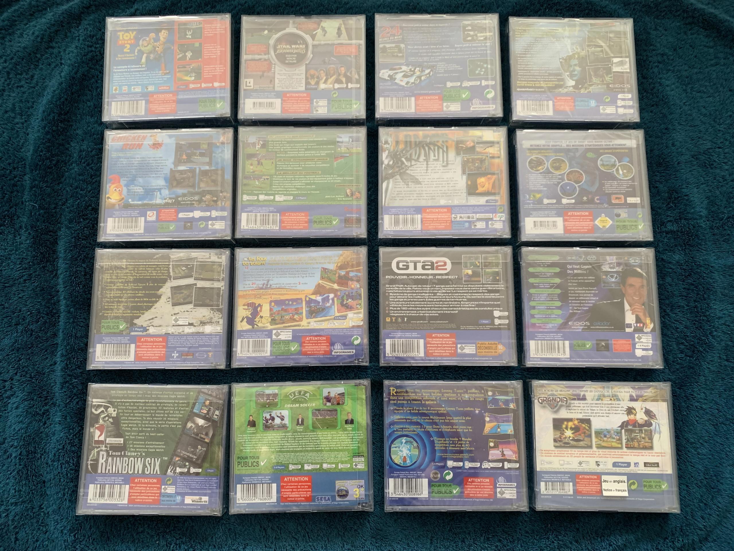 [VENDU] Fullset Jeux Dreamcast, Accessoires, Promo, Rigides... - 350 pièces - NEUF SOUS BLISTER 016_fu10