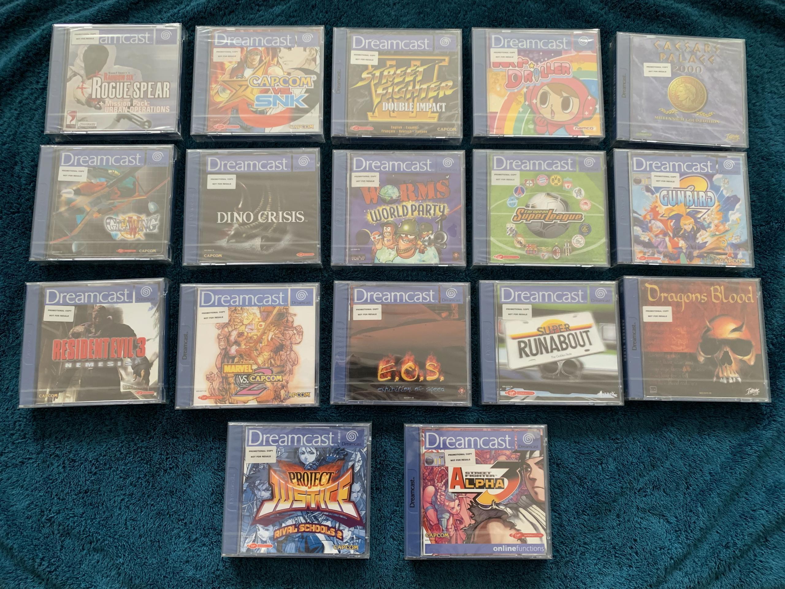 [VENDU] Fullset Jeux Dreamcast, Accessoires, Promo, Rigides... - 350 pièces - NEUF SOUS BLISTER 055_je10