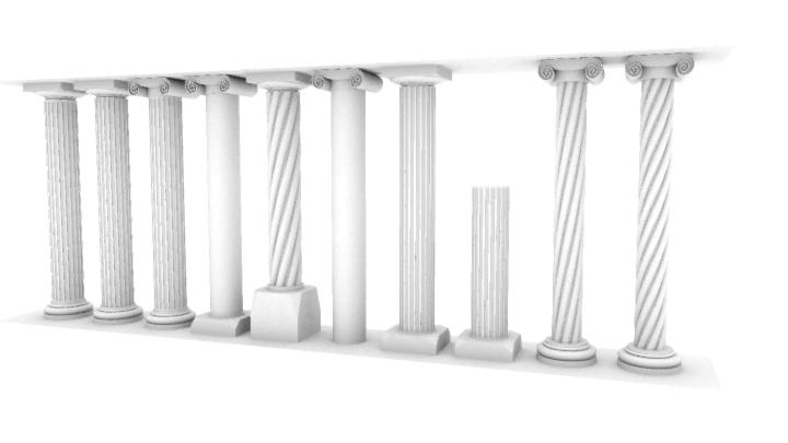 Composant dynamique : colonne a cannelures Colonn11