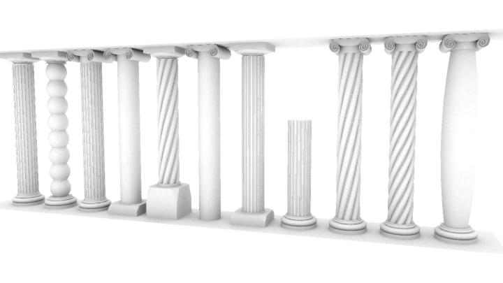 Composant dynamique : colonne a cannelures Colonn13