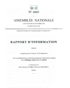 Rapport parlementaire sur le dialogue social dans les armées - 2011 Rap_in10