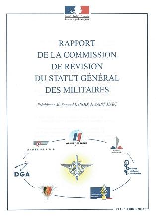La commission de révision du statut des militaires - en 2003 Rap_ra10