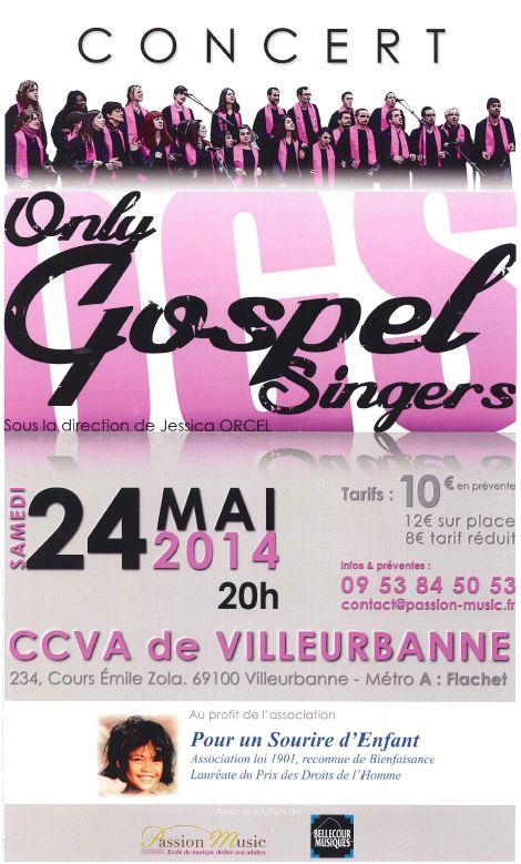 Concert de gospel - 24 mai - Villeurbanne Affich13