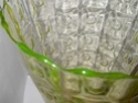 Green yellow patterned large vase? 2012-138