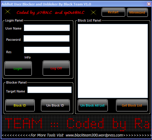 Addlist User Blocker And Unblocker By BlackTeam 2014-012