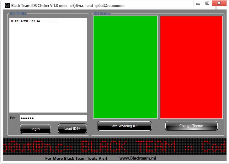 IDs Checker By BlackTeam C110